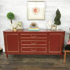 Painted Buffets And Sideboards by Vintage Refined Red Painted Buffet