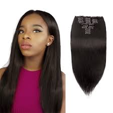 clip in hair extensions black