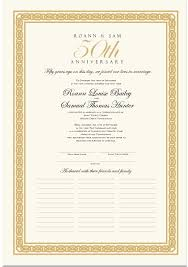 50th wedding anniversary poems wedding anniversary certificates 50th anniversary calligraphy