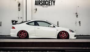 acura rsx acura rsx honda integra air suspension ride bagged stance te37 012