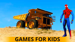 monster truck videos on youtube dump truck u0026 monster trucks spiderman cartoon cars for children