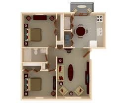 Floor Plan Of An Apartment 1 U0026 2 Bedroom Apartments For Rent Lawrence Glen Apartments