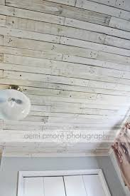 white washed ceiling i made using pallet wood i added a fun