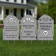 Outdoor Halloween Tombstone Decorations funny halloween tombstones halloween decorating ideas for outside
