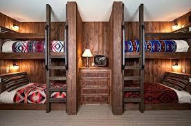 rustic wood bunk beds log furniture bed frames bedroom designs