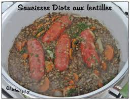 cuisiner les diots saucisses diots aux lentilles ghislaine cuisine