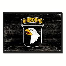 eagle home decor us army 101st airborne military flag vintage canvas print with