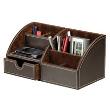 staples desk organizer set osco brown faux leather desk organiser staples house shopping