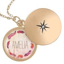 monogram locket necklace boho feather wreath monogram locket necklace jewelry jewellery