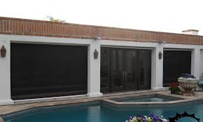 Patio Wind Screens by Fortress Outdoor Solar Shades For High Winds North Solar Screen