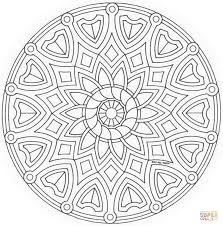 celtic mandala with flower coloring page free printable coloring