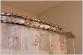 image of shower curtain rod and hooks erfly pattern