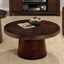 2017 best of dark brown round coffee table set