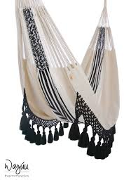 aguadas hammock in black white stripes wayuu hammocks