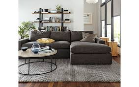 livingroom chaise harding sofa with chaise living room modern living room