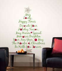 christmas wall decorations christmas lights decoration christmas tree quote giant stickers for wall rmk1412gm