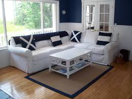 cottage living room with plush sofa u0026 chair rail in frankford de