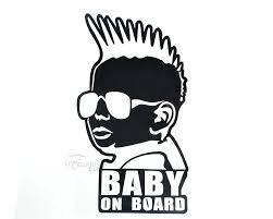 cool baby on board window sign vinyl decal reflective waterproof