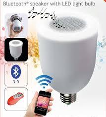 led light bulb speaker led music bulb wireless bluetooth speaker led l speaker remote