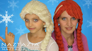 wigs for kids halloween diy tutorial yarn wig hair disney frozen elsa anna braid cosplay