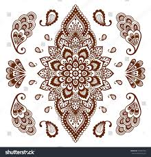 mehendi ornament collection indian henna tattoo stock vector