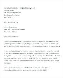 employment cover letter introduction letter for a suren drummer info
