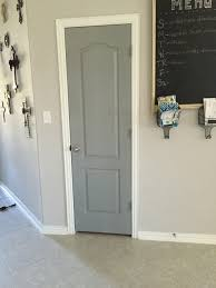 How To Paint An Interior Door by Valspar Stone Mason Gray To Liven Up Interior Doors For The Home