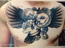 skull owl tattoos
