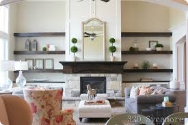 Modern Floating Shelves And Cabinet Around Fireplace Kaylinmcgrew - Family room shelving
