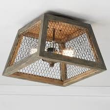 square lshade chicken wire square shade ceiling light shades of light