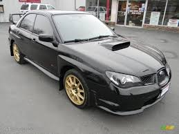 subaru wrx all black obsidian black pearl 2006 subaru impreza wrx sti exterior photo