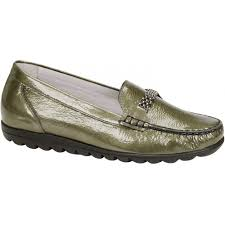 Shoo Olive waldlaufer womens hina olive patent slip on shoe at marshall shoes