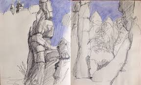 michelle mendez artwork yunnan stone forest original drawing