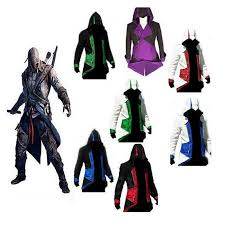 Connor Halloween Costume Cheap Sale Assassins Creed 3 Connor Hooded Jacket