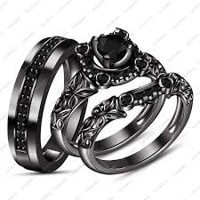 black wedding ring black gold wedding rings his and hers troy wedding