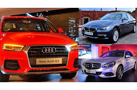 bmw in mercedes audi bmw in race to win battle of luxury cars in india