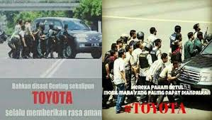 Meme Mobil - ngakak muncul meme promo mobil toyota jadi tameng bom sarinah