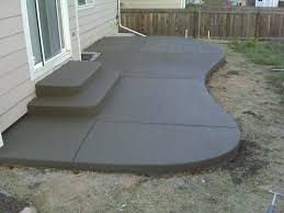 Backyard Concrete Ideas Patio Ideas Backyard Concrete Patio Designs Back Patio Designs
