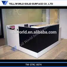 Black Reception Desk High End Black Reception Desk Modern Commercial Office Reception