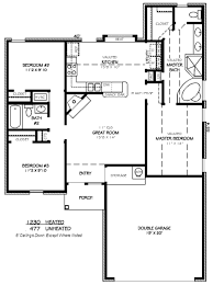 traditional style house plan 3 beds 2 00 baths 1230 sq ft plan
