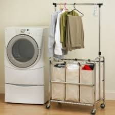 Laundry Room Hangers - single laundry bag with hangers for seville classics laundry sorter
