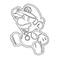 free printable mario coloring pages kids paper glum