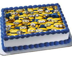 minions cake toppers minion birthday cake icing image inspiration of cake and