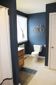Bathroom Paint Ideas Benjamin Moore Boys Bathroom Benjamin Moore Newburyport Blue West Elm Rug And