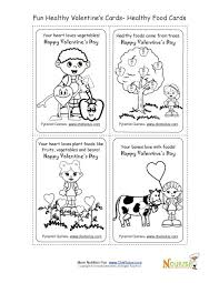holiday 2 healthy foods coloring page valentine u0027s day card