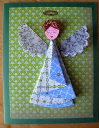 half circle christmas tree or angel card dianne faw
