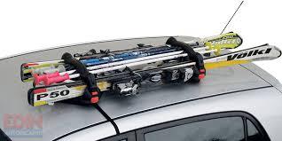 porta sci auto portasci magnetici porta 2 paia sci 4 racchette antifurto viking