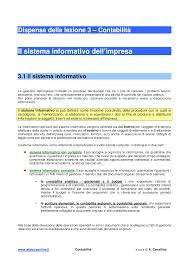 dispense di contabilit罌 03 sistema informativo docsity