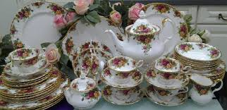 country roses tea set lovely treasures from garden royal albert country