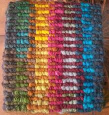 locker hooking with fleece joanne u0027s rug the wool goes u0027round